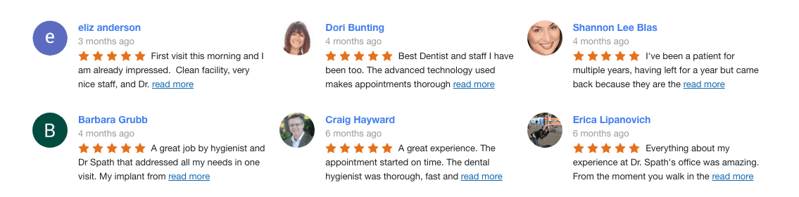 5-Star Google Reviews of Newport Beach Dentist Dr. Andrew Spath DDS